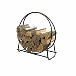 Panacea Products 15209 40-Inch Steel Fireplace Log Hoop