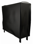 Panacea Products 15213 Fireplace Rack Cover, Black Vinyl, 4-Ft.