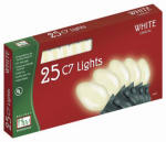 Noma/Inliten-Import 2524W-88 Christmas Lights Set, White Ceramic, 25-Ct.