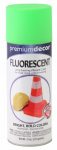 True Value Mfg PDFL4-AER Fluorescent Spray Paint, Interior/Exterior, Glo Green, 11-oz.