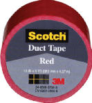 3M 1005-RED-IP 1-1/2 Inch x 5-Yard Multi-Purpose Red Duct Tape