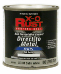 True Value Mfg XO31-HP Oil-Base Paint, Satin, White, Interior/Exterior, 1/2-Pt.