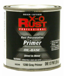 True Value Mfg 1280-HP Metal Primer, Oil-Base, Interior/Exterior, Gray, .5-Pt.