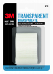3M 2105-CD 1-1/2 Inch x 5-Yard Transparent Duct Tape