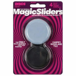 Magic Sliders L P 04600 Surface Protectors, Concave Furniture Sliding Discs, 2-3/8-In. Round, 4-Pk.