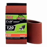 Ali Industries 3155 2-Pack 3 x 24-Inch 120-Grit Bi-Directional Sanding Sheet