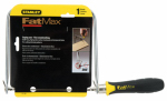Stanley Consumer Tools 15-106A Coping Saw + 3 Carbon Steel Blades, Cushion Grip