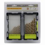 Disston 647386 17-Piece Titanium Nitride Drill Bit Set