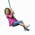 Swing-N-Slide NE 4574 Shooting Star Disc Swing, Green With Rope, Holds 115-Lbs.