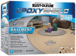 Rust-Oleum 203008 Epoxy Shield Basement Floor Coating Kit, Tan, 1-Gal.