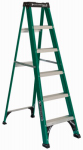 Louisville Ladder FS4006 6-Ft. Step Ladder, Fiberglass, Type II, 225-Lb. Duty Rating
