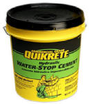 Quikrete Companies 112620 Hydraulic Water Stop Cement, 20-Lb. Pail