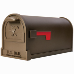 Solar Group AR15T000 Arlington Post Mailbox, Bronze Cast Aluminum & Steel, Large