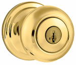 Kwikset 740J 3 SMT CP K4 Security Signature Brass Juno Entry Lockset With SmartKey