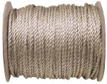 Mibro Group (The) 644701TV Unmanilla Rope, Brown Polypropylene, 1/4-In. x 1200-Ft.