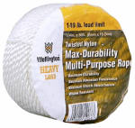 Wellington Cordage 10966 1/4-Inch x 50-Ft. Silvery White Nylon Rope