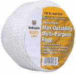 Wellington Cordage 10967 1/4-Inch x 100-Ft. Silvery White Nylon Rope