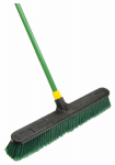 Quickie Mfg 00538 Bulldozer Push Broom, Indoor/Outdoor, Polypropylene Fibers, 24-In.
