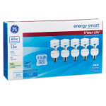 G E Lighting 92776 5-Pack 13-Watt Soft White CFL Bulbs