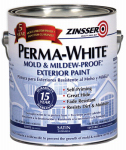Zinsser & 3101 Satin Exterior Paint, 1-Gallon, White
