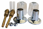 Larsen Supply Co, 01-9071 Tub & Shower Rebuild kit or kitchen for Price Pfister Windsor 2-Valve Faucet