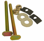 "Larsen Supply 04-3643 Toilet Bolts Solid Brass 1/4 Inch x 3-1/4"" With Nuts And Washers"