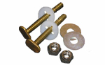 Larsen Supply 04-3645 Toilet Bolt Kit, Brass, 5/16 x 2.25-In.