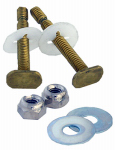 Larsen Supply 04-3647 Toilet Bolts Solid Brass Snap Off 1/4 Inch X 2-1/4 Inch With Nuts And Washers