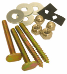 Larsen Supply 04-3653 Toilet Closet Bolt & Screw Set, Brass-Plated
