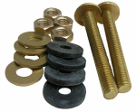Larsen Supply 04-3675 Toilet Tank-to-Bowl Kit, Heavy-Duty Brass, 3/8 x 3-1/8-In.