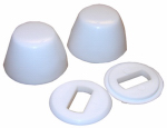 Larsen Supply 04-3911 Round Toilet Bolt Caps, White, Plastic