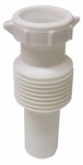 Larsen Supply 03-4315 White Plastic Tubular,1-1/4-Inch Flexible,Extendable,Slip Joint Extension,With Nut And Washer,Carded