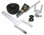 Larsen Supply 04-1599 Toilet Flapper Complete Flush Valve Assembly Kit or Kitchen With Flush Lever, For Eljer Touch Flush Toilets, Carded.