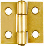 National Mfg/Spectrum Brands Hhi N145-946 2-Pack 1 x 1-Inch Dull Brass Narrow Hinges