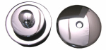 Larsen Supply 03-4899 Bathtub Trim Kit, Push Pull Stopper With Overflow Plate, Chrome Plated