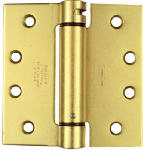 National Mfg/Spectrum Brands Hhi N184-572 Mortise Spring Hinge, Brass, 4 x 4-In.