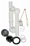 Larsen Supply 03-4957 PVC Trip Waste & Overflow Assembly, 1.5-In.