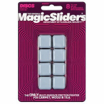 Magic Sliders L P 08024 Surface Protectors, Furniture Sliding Discs, Adhesive, 15/16-In. Square, 8-Pk.
