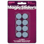 Magic Sliders L P 08025 Surface Protectors, Furniture Sliding Discs, Adhesive, 1-In. Round. 8-Pk.