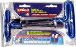Eklind Tool 55166 Hex Key Set. T-Handle, Cushion Grip, 6 Metric Sizes