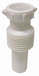 Larsen Supply 03-4319 White Plastic Tubular,1-1/2-Inch Flexible,Extendable,Slip Joint Extension,With Nut And Washer,Carded