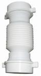 Larsen Supply 03-4355 White Plastic Tubular,1-1/2-Inch Slip Joint Coupling,Flexible And Extendable,With Nuts And Washers,Carded
