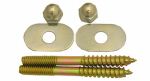 Larsen Supply 04-3611 Toilet Screws,Brass Plated 1/4 Inch X 2-1/2 Inch With Nuts And Washers
