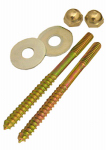 Larsen Supply 04-3613 Toilet Screws,Brass Plated 1/4 Inch X 3-1/2 Inch With Nuts And Washers