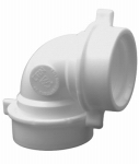 Larsen Supply 03-4261 Drain Elbow, 90 Degree, White PVC, 1-1/2-In.