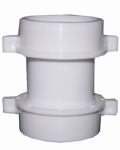 Larsen Supply 03-4271 Lavatory/Kitchen Drain Coupling, White PVC, 3.5-In.