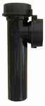Larsen Supply 03-4283 Black Plastic Tubular,1-1/2-Inch Slip Joint Baffle Tee,WithTailpiece, Nuts And Washers,Carded