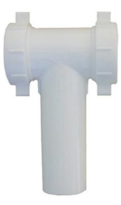 03-4291 PVC Pipe Fitting, Lavatory/Kitchen Drain Tee, White,