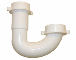 Larsen Supply 03-4221 White Plastic Tubular,1-1/2-Inch J-Bend,With Nuts And Washers,Carded