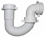 Larsen Supply 03-4231 White Plastic Tubular,1-1/2-Inch Repair J-Bend With Slip Joint Elbow,Includes Nuts And Washers,Carded